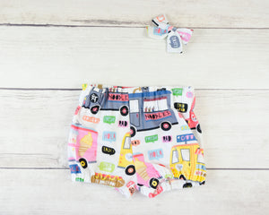 Food Truck  Baby Toddler Bloomers or Skirt Outfit