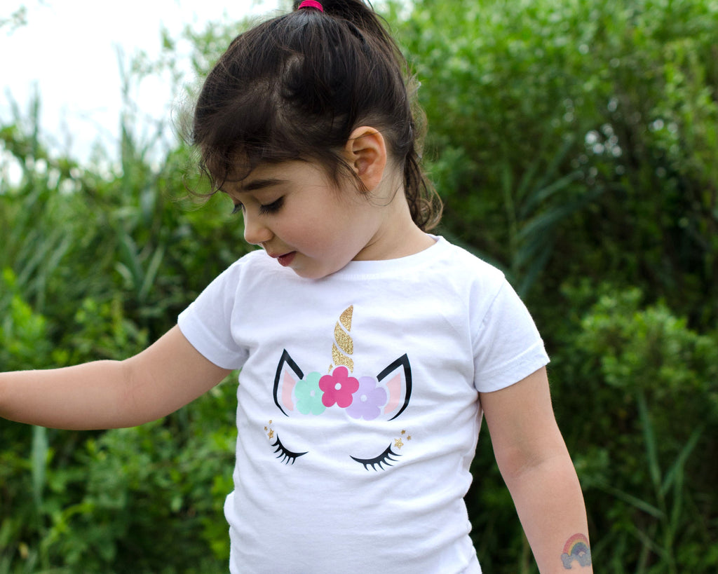 Fitted Unicorn Toddler T-Shirt