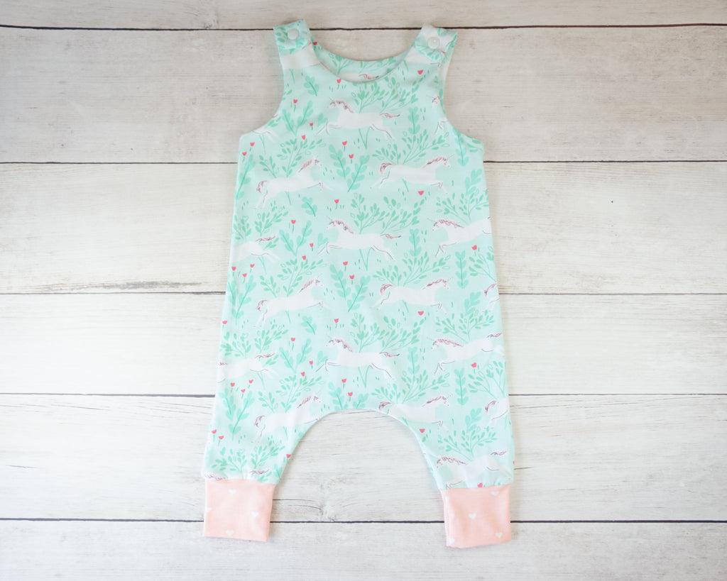 Unicorn Harem Romper Baby Toddler