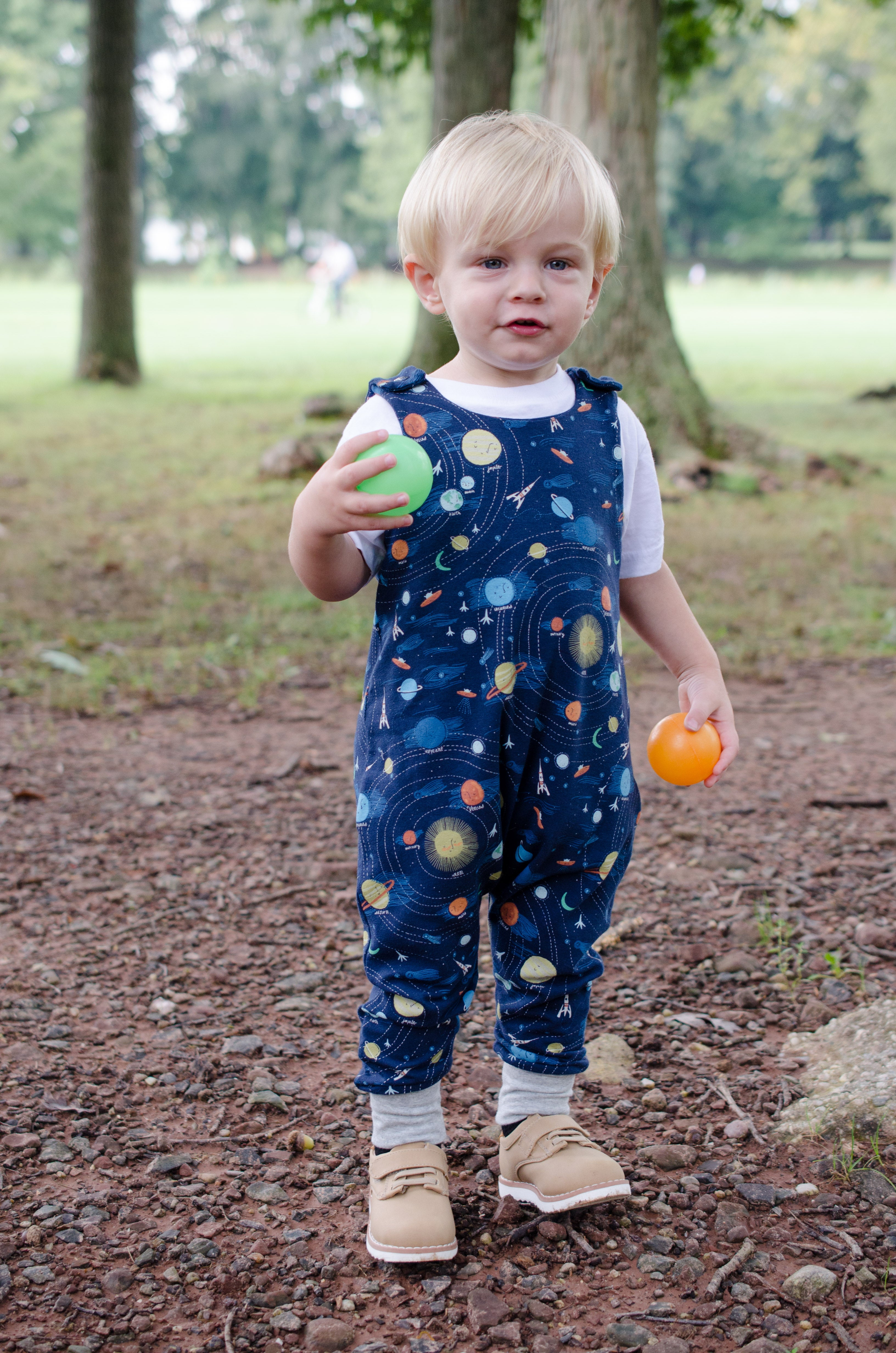 Outer Space Harem Romper Baby Toddler