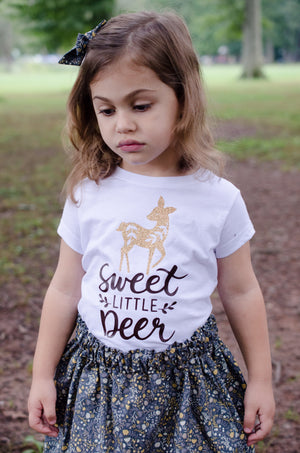 Fall Sweet Little Deer Baby Toddler Bloomers or Skirt Outfit