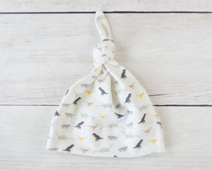 Cream Baby Dinosaur Hat