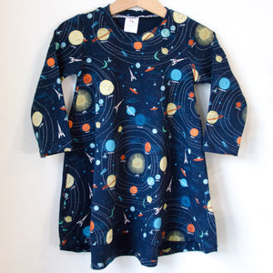 Outer Space Print T-Shirt Dress