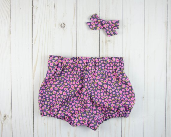 Floral Baby Toddler Bloomers or Skirts