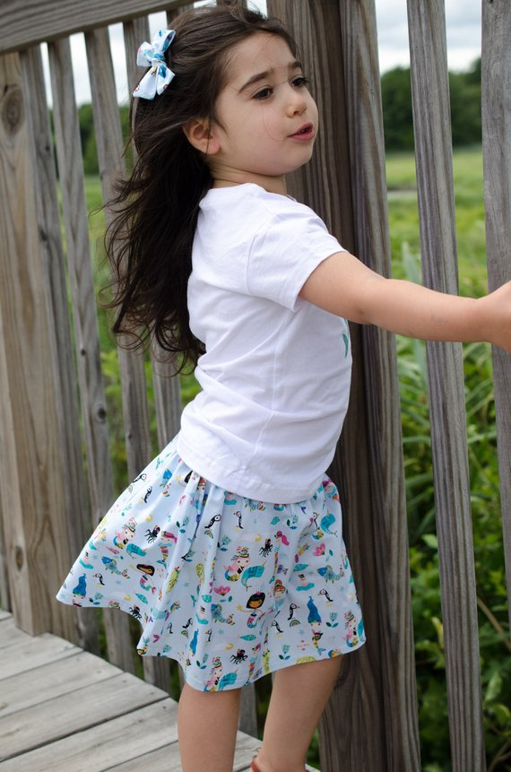 Mermaid Baby Toddler Bloomers or Skirt