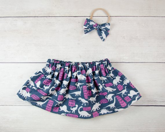 Dinosaurs Text Baby Toddler Bloomers or Skirt