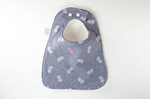 Bicycle and Floral Baby Bib