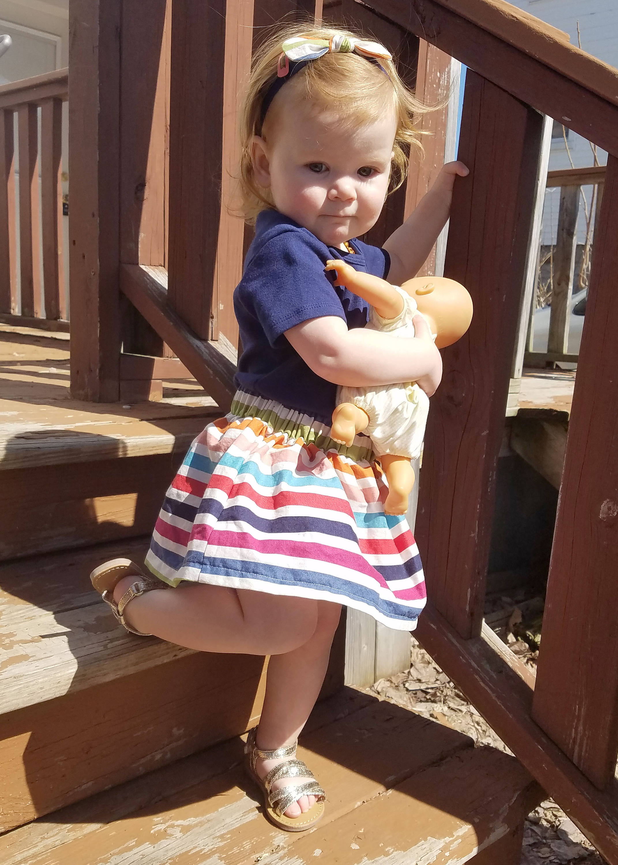 Colorful Striped Baby and Toddler Skirt