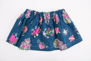 Toddler Skirt Handmade - Toddler Skirt  - Baby Girl Skirt - Toddler Girl Skirt - Sugar Skull - Toddler Girl Clothes -  Baby Clothes