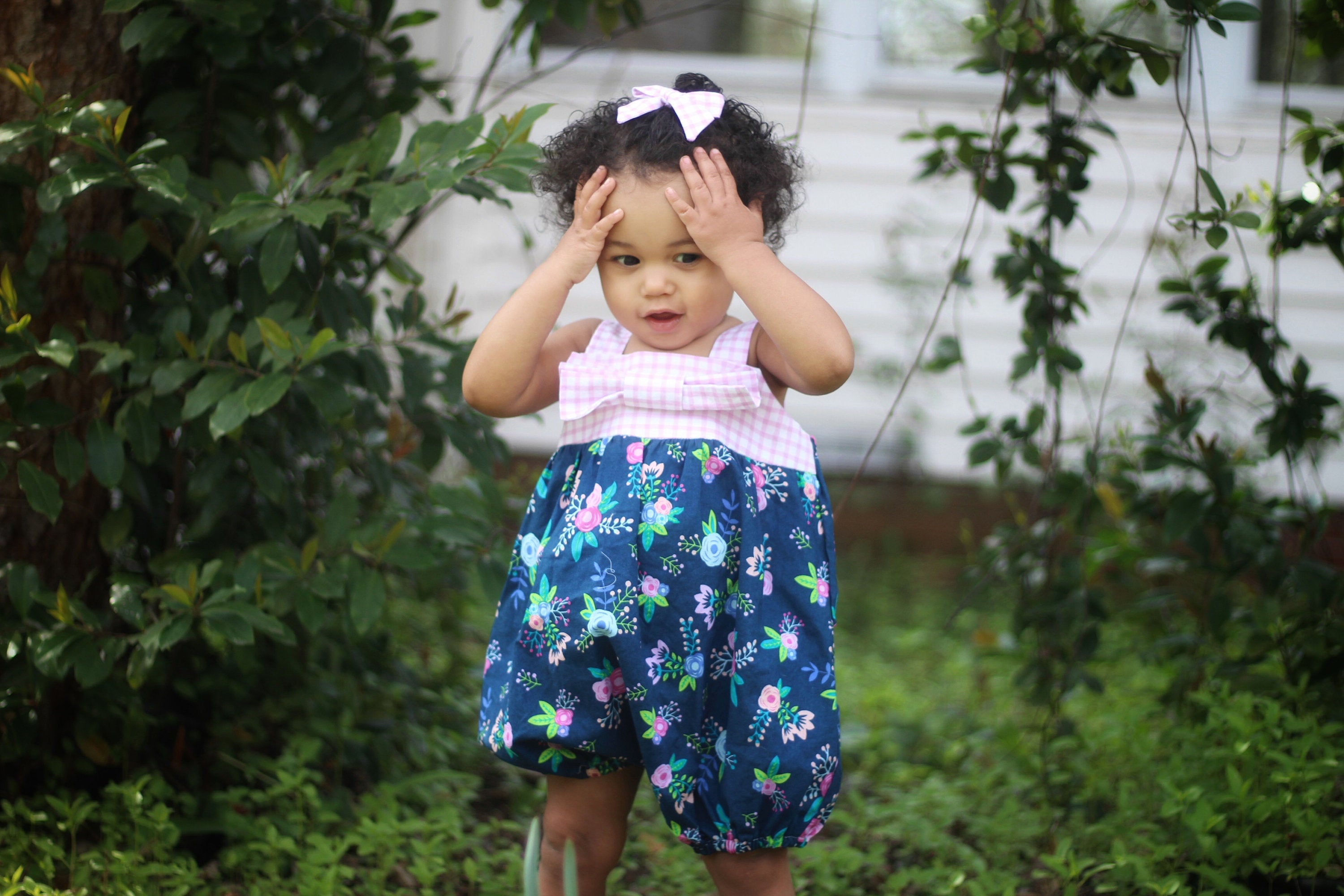 Floral Baby Toddler Summer Bubble Romper