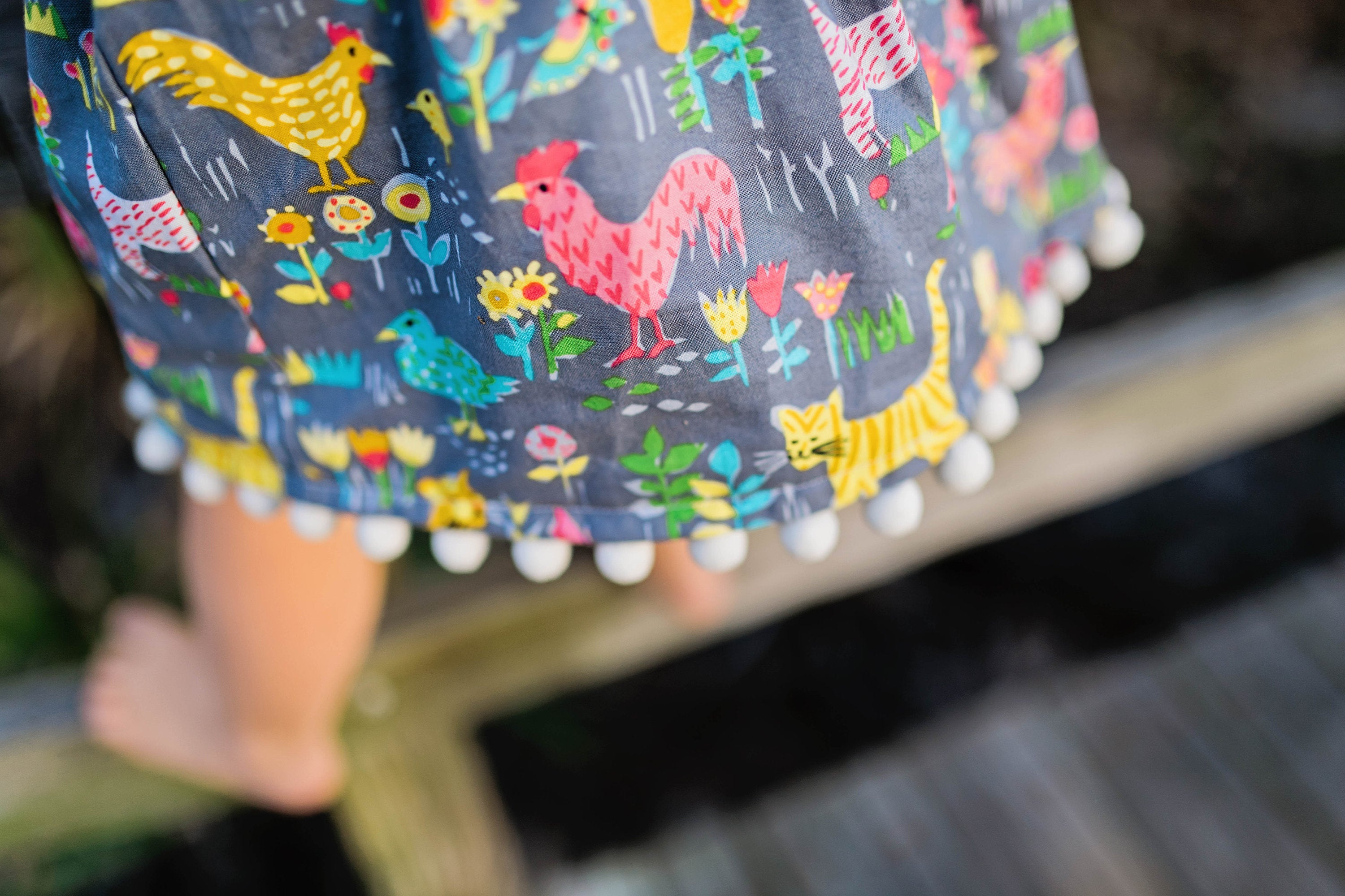 Backyard Animal Skirt and Shirt Baby Toddler Outfit