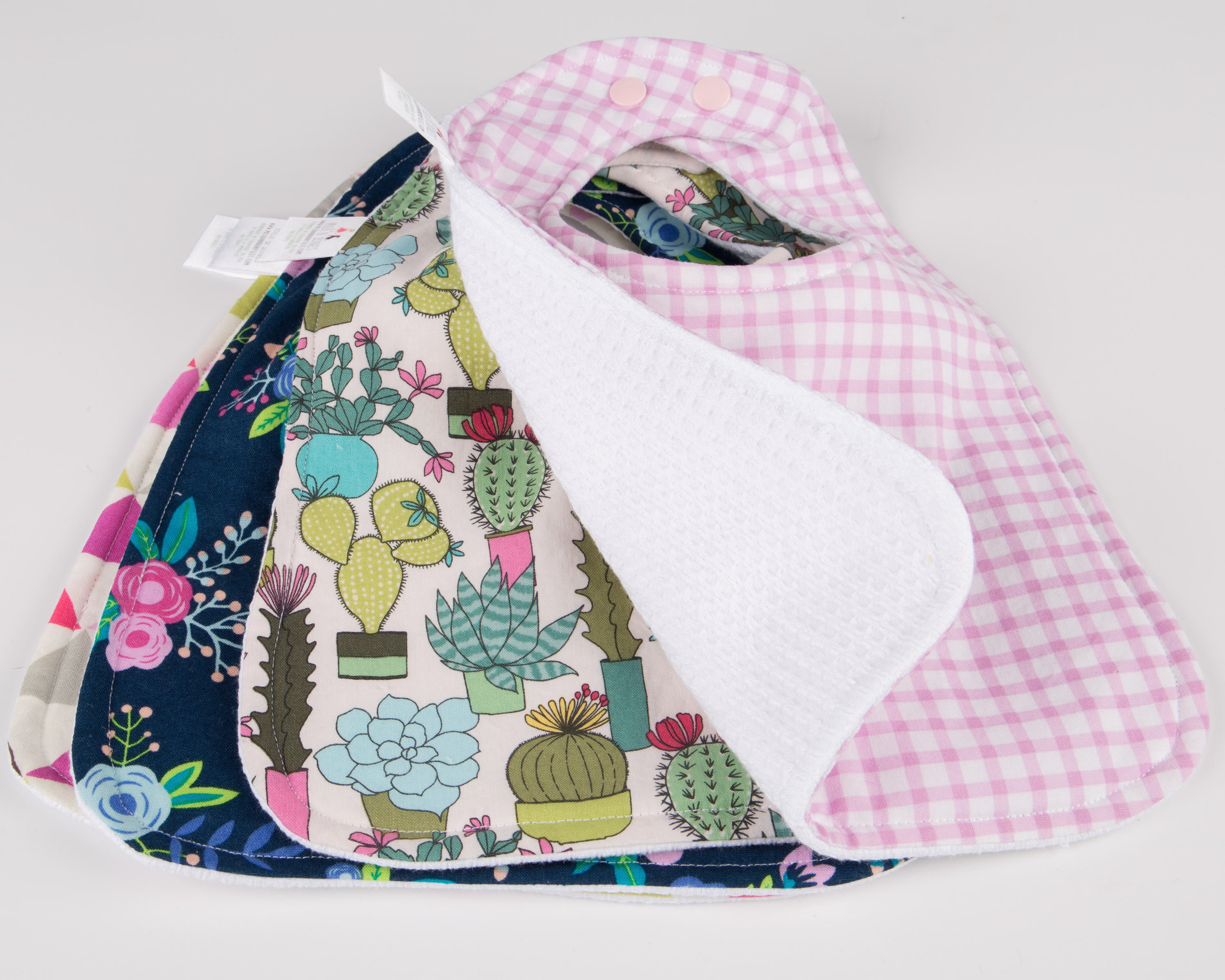 Cactus Collection Baby Bibs