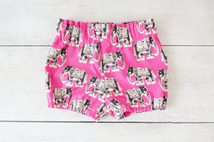 Elephants Baby Toddler Bloomers or Skirt