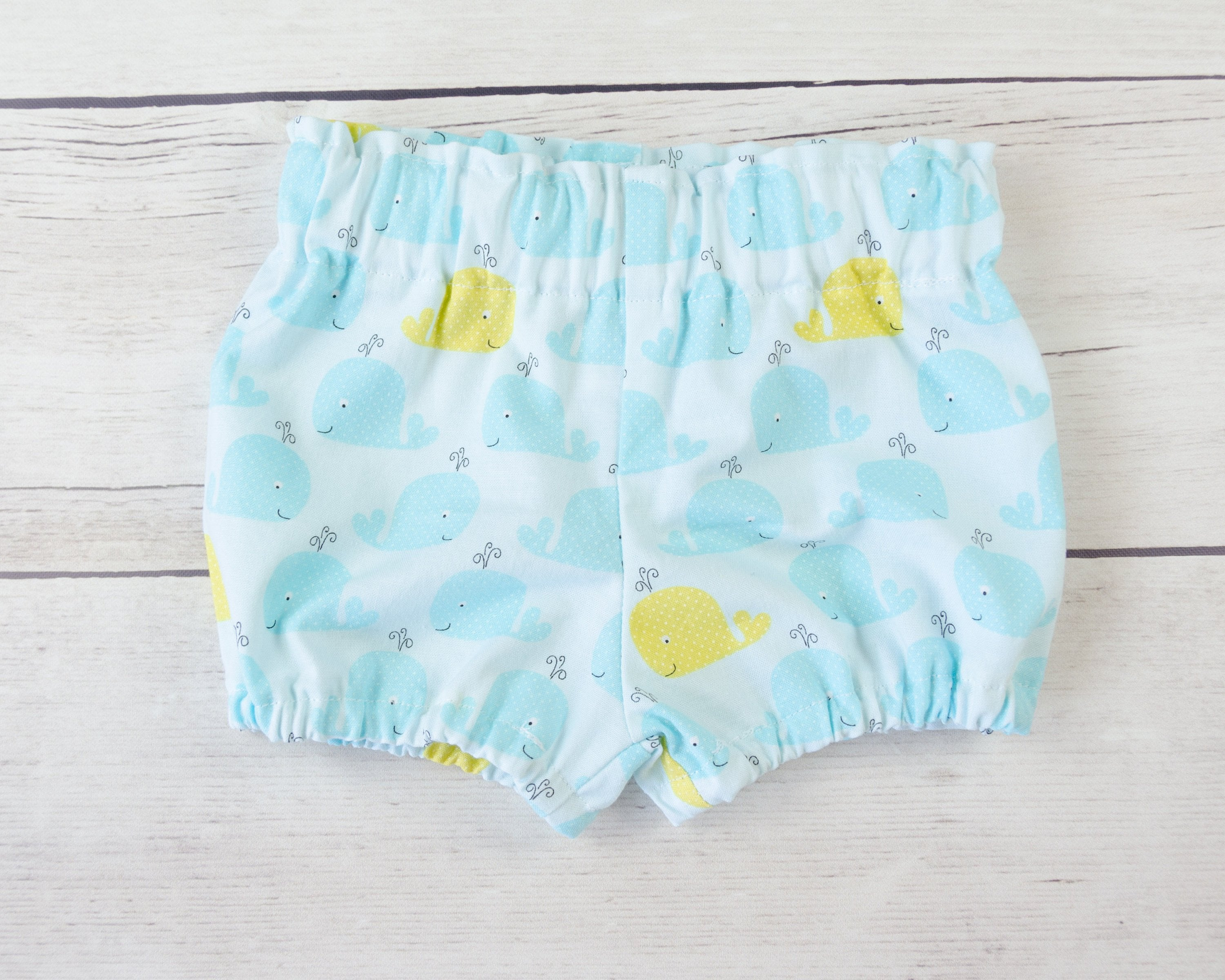 Whale Baby Toddler Bloomers or Skirt