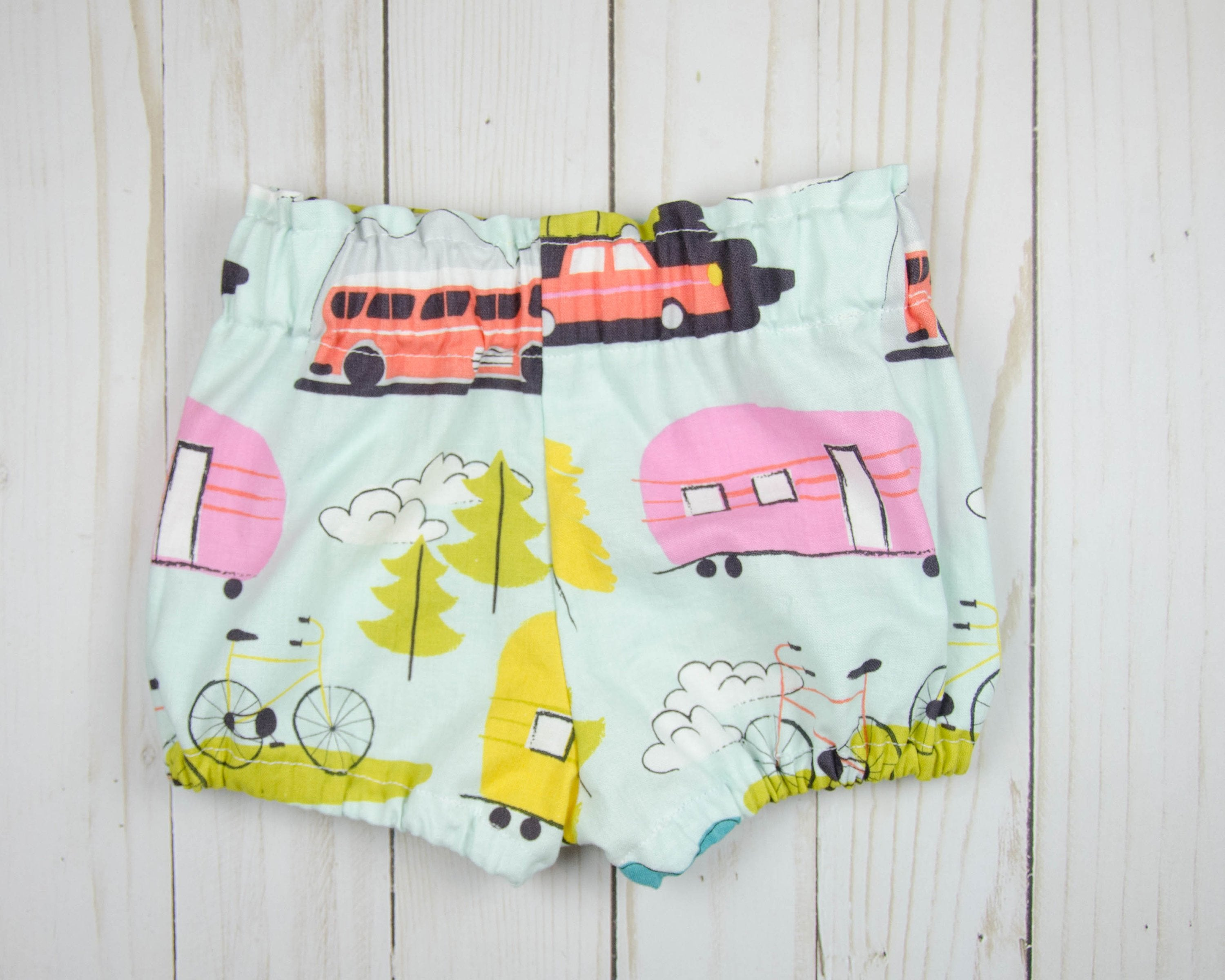 Retro Camper Baby Toddler Bloomers or Skirt