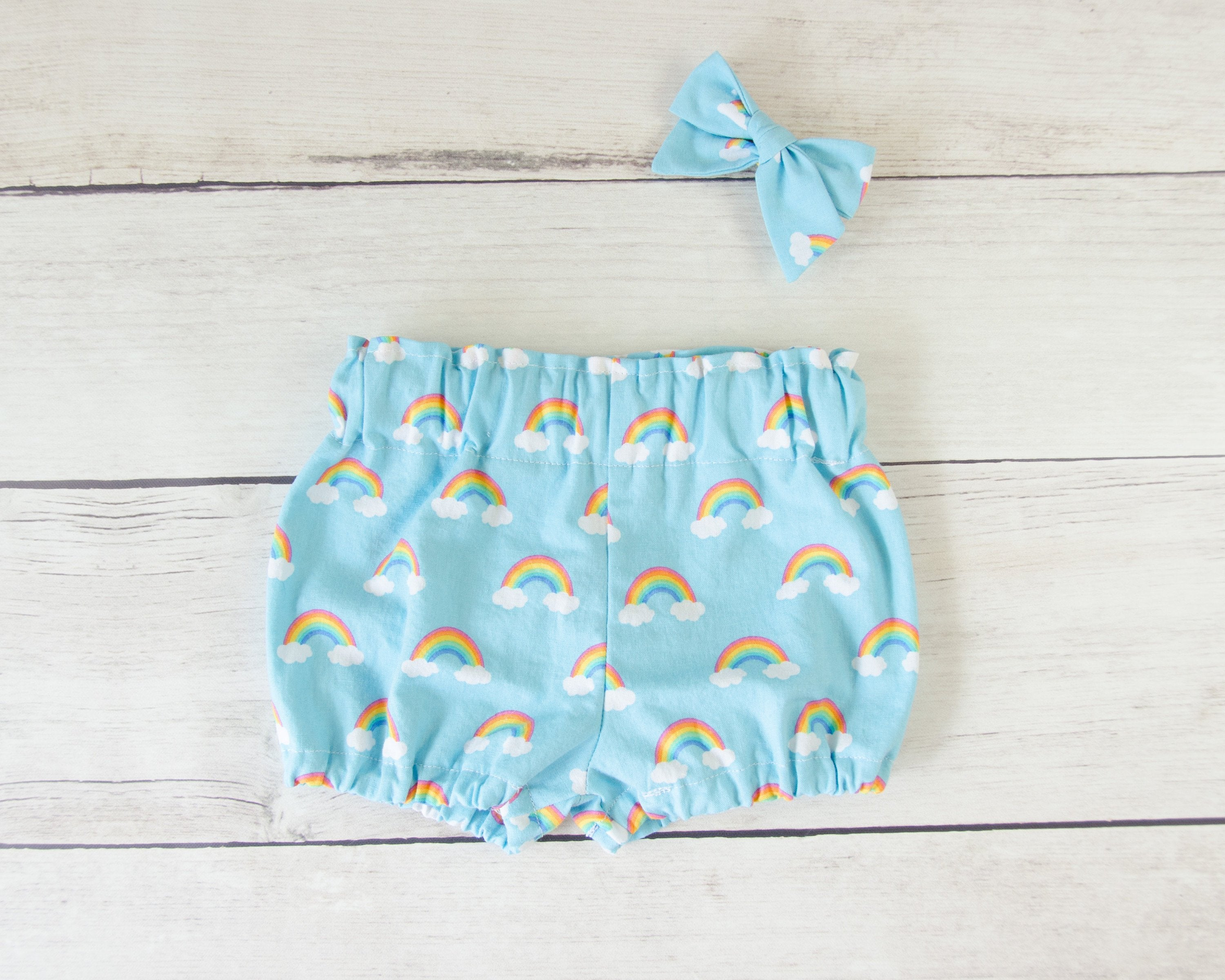 Rainbow Baby or Toddler Bloomers or Skirt