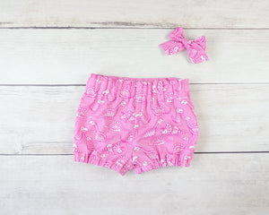 Pink Dinosaur Baby Toddler Bloomers or Skirt