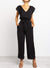Cap Sleeve Detachable Waist Tie Jumpsuit
