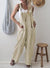 Fashion Casual Pure Color Long Belt Jumpsuits