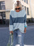 O Neck Color Block Casual Sweater
