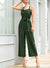Button Front Self Tie Cami Jumpsuit