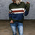 Casual Long Sleeve Striped Splicing Sweater