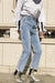 Streetwear Lightblue Loose Jeans