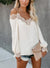 LACE COLD SHOULDER BLOUSE - WHITE