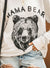 COTTON BLEND MAMA BEAR PULLOVER
