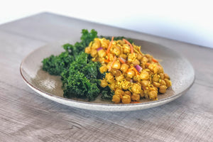 Curry Chickpeas & Kale Salad