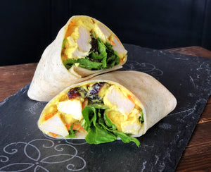Coconut Curry Chicken Salad Wrap