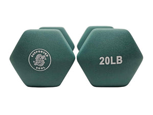 SUPPORTED SOUL 20LBS NEOPRENE HAND WEIGHTS