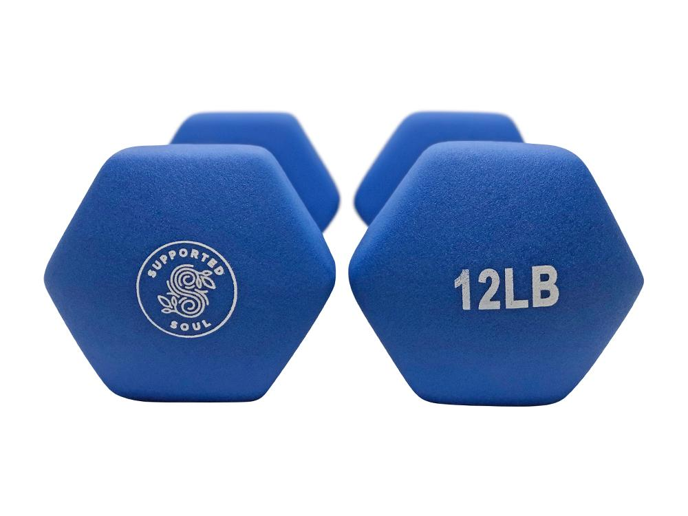 SUPPORTED SOUL 12LBS NEOPRENE HAND WEIGHTS