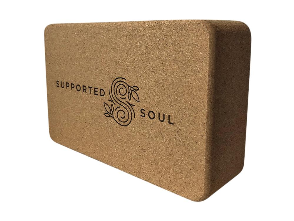 SUPPORTED SOUL CORK YOGA BLOCK