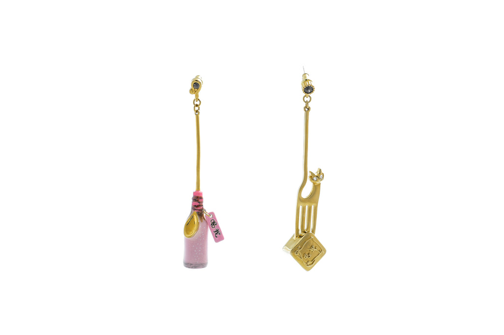 Drink And Eat Me Earrings