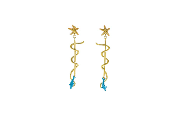Dolphin Starfish Earrings