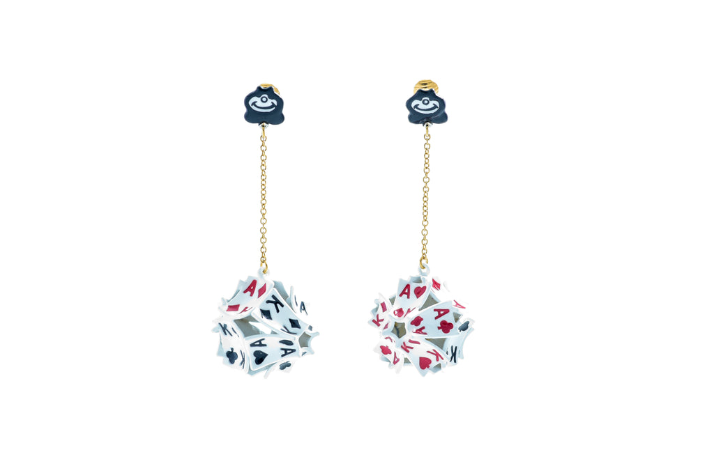 Poker Cardball Earrings
