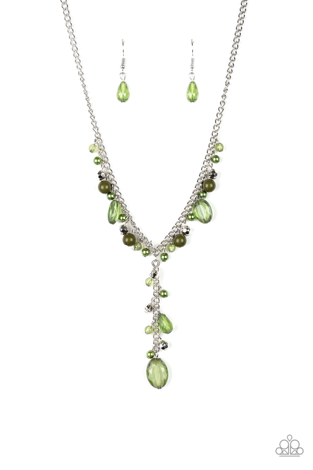 Crystal Coture -Green Paparazzi Jewelry Necklace