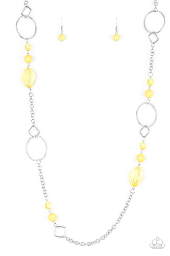 Very Visionary - Yellow Paparazzi Jewelry Necklace