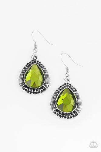 Grandmaster Shimmer - Green Paparazzi Jewelry Earrings