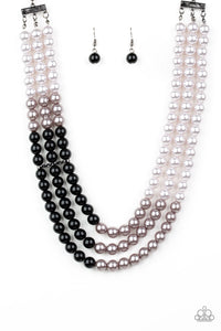 Times Square Starlet - Black/White Paparazzi Jewelry Necklace