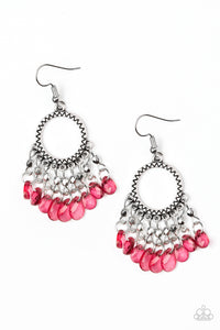 Paradise Palace - Red Paparazzi Jewelry Earrings