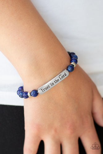 Trust Always - Blue Urban Paparazzi Jewelry Bracelet