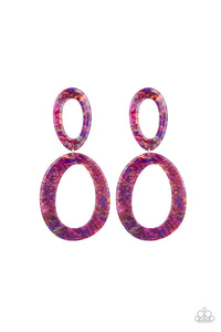Hey Haute Rod - Multi/Purple Paparazzi Jewelry Earrings