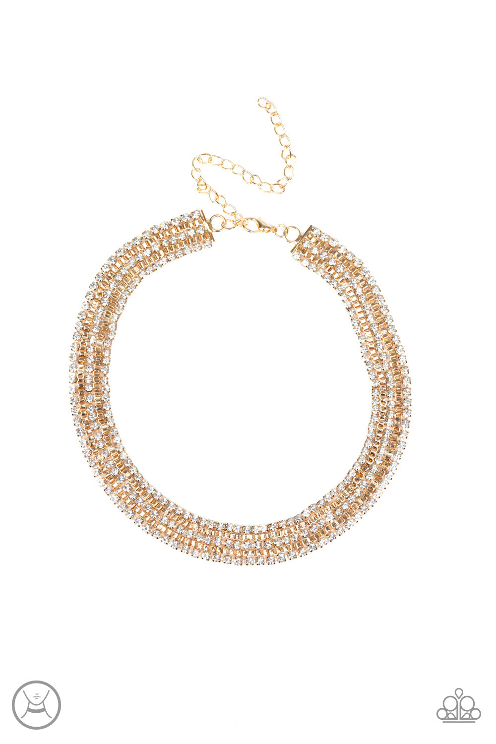 Full REIGN - Gold Paparazzi Jewelry Necklace