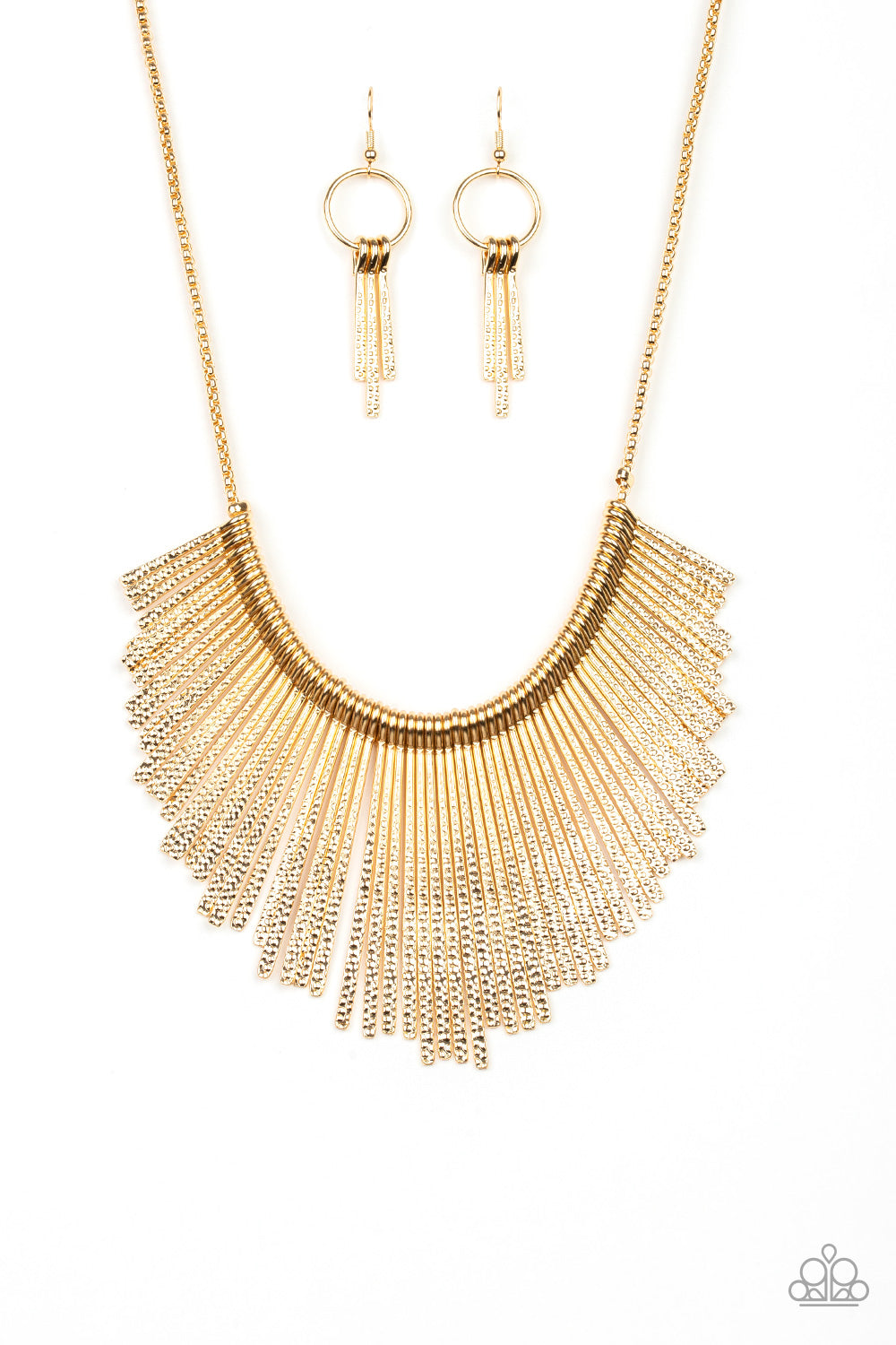 Metallic Mane - Gold Paparazzi Jewelry Necklace