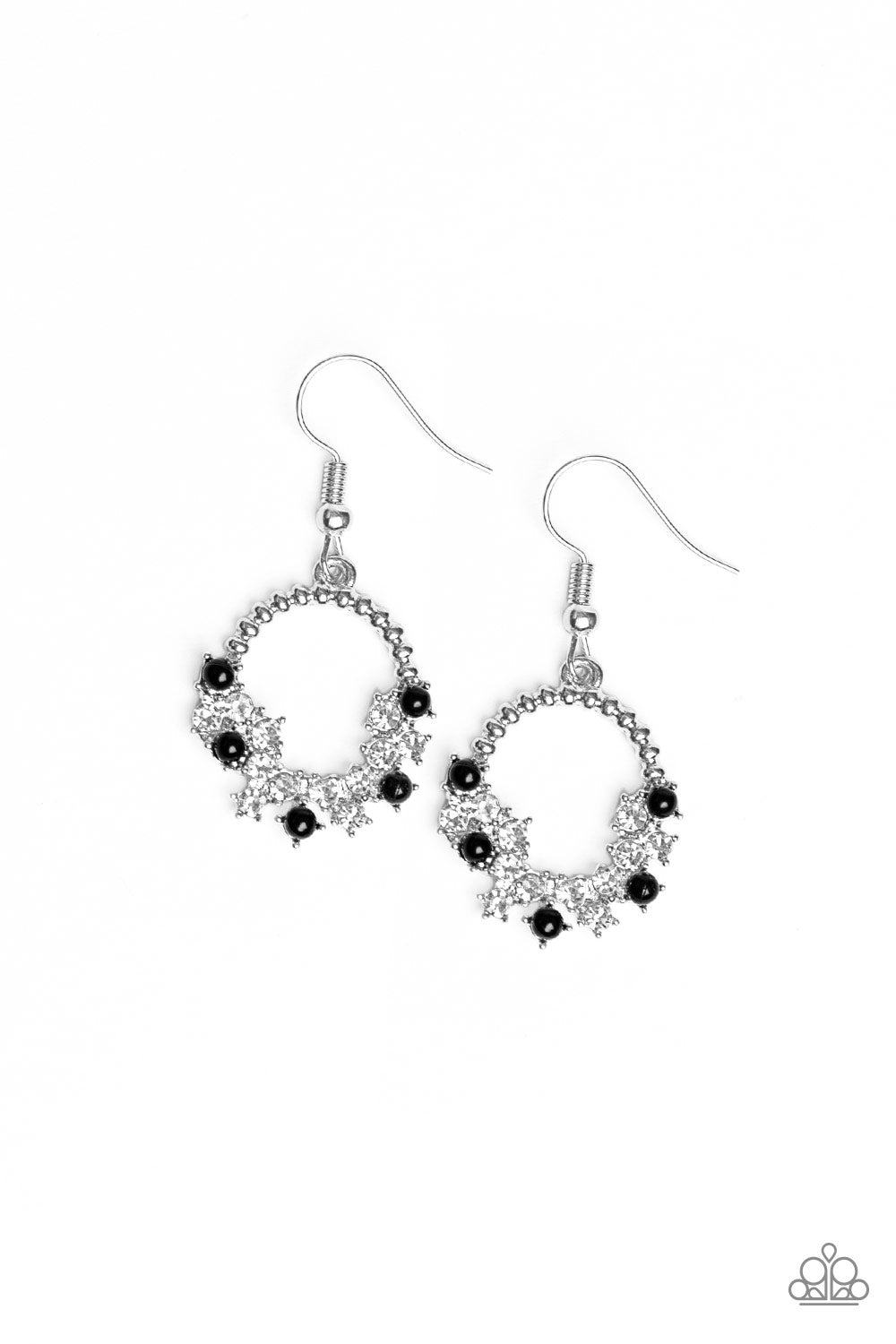 Refined Razzle - Black Paparazzi Jewelry Earrings