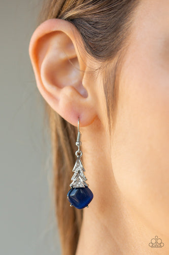 Dreamy Dazzle - Blue Paparazzi Jewelry Earrings
