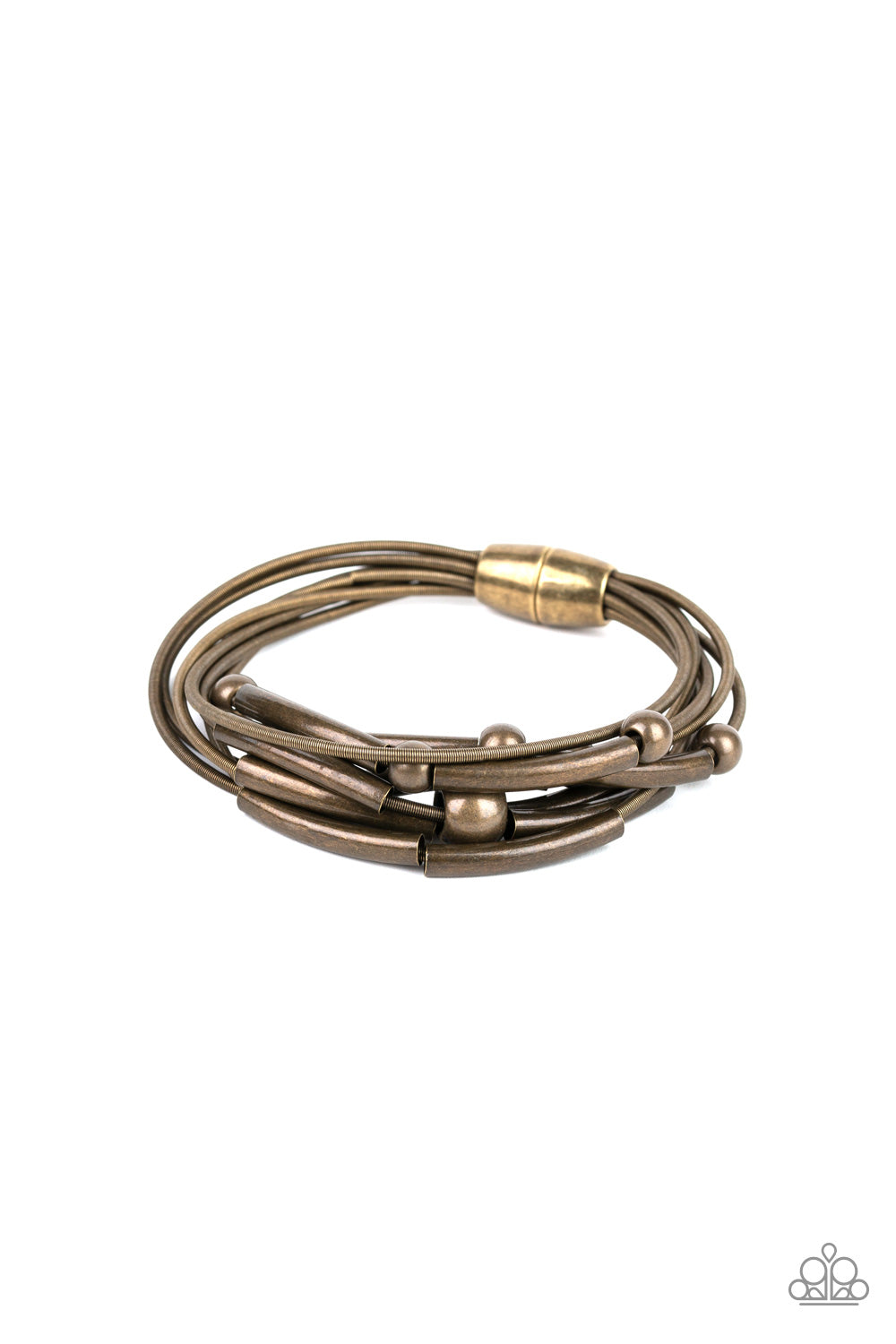 Basic Magnetics - Brass Paparazzi Jewelry Bracelet