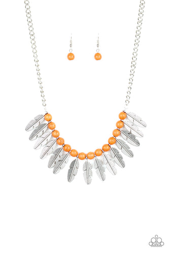 Desert Plumes - Orange Paparazzi Jewelry Necklace